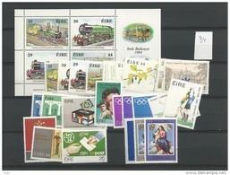 1984 MNH Ireland, Eire, Year Collection, Postfris - Irlanda