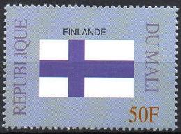 MALI 1999 - 1v - MNH** - Flag Of Finland Finlande Flags Drapeaux Fahnen Bandiere Banderas флаги - Timbres