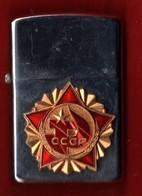 ACCENDINO   CCCP  RUSSIA  TIPO ZIPPO DA COLLEZIONE  CUSTODIA - Zippo