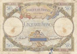 Billet 50 F L.O. Merson Du 1-10-1929 FAY 15.03 Alph. M.5095 - 1871-1952 Anciens Francs Circulés Au XXème