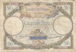 Billet 50 F L.O. Merson Du 27-8-1929 FAY 15.03 Alph. Z.4735 - 1871-1952 Anciens Francs Circulés Au XXème