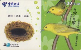 TARJETA TELEFONICA DE CHINA. AVES - BIRDS. SC033-3-3. (641). - Pájaros