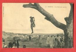 CPA - HARRAR , Harar Jugol, Une Exécution Capitale, Pendaison, Ethiopie, éd. J. G. Mody N° 31 - Ethiopie