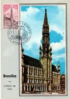 Europa Strasbourg 1973 - Hotel De Ville De Bruxelles - Cartes-Maximum