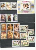 LIBERIA Scott 897-899 900, 958-960, 1023-1028  (12+bloc) O Cote 16,50$ 1981-5 - Liberia