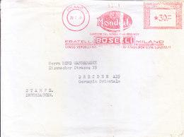 ITALY : 1958 METER FRANKING FROM MILANO : F.B. MONDIUL, FRATELLI BOSELLI MILANO - 6. 1946-.. Republic