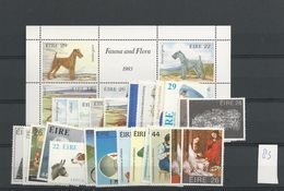 1983 MNH Ireland, Eire Year Collection, Postfris - Irlanda
