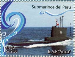 Lote P2009-14, Peru, 2009, Sello, Stamp, 2 V, Submarinos Del Peru, Submarine - Perú
