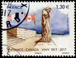 """Oblitération Cachet à Date Sur Timbre De France N° 5137 Sculpture Du """"Canada Pleurant Ses Fils Disparus"""" - France"""