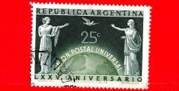 ARGENTINA - Usato - 1949 - 75 Anni Dell'UPU - Unione Postale Universale - 25 C - Argentine