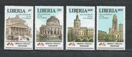 LIBERIA Scott 1055-1058  (4) ** Cote 5,50$ 1987 - Liberia