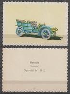 Renault 1910 FRANCE Oldtimer Oldsmobile Auto Veteran Car Automobile Hungary Offset  LABEL CINDERELLA VIGNETTE - Coches