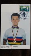 CPM CYCLISME CYCLISTE 1 ER JOUR LAURENT BIONDI GRENOBLE S O CHARVIEU CHAVAGNEUX 30 03 1991 SEYSSINET PARISET PHOTO PAPAZ - Cyclisme