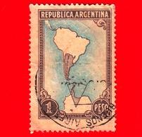 ARGENTINA - Usato -  1951 - Mappa Del Sud America  - 1 - Argentine
