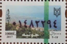 Lebanon 2018 MNH NEW Fiscal Revenue Stamp - 10.000L Bay Of Jounieh, Dated 2017 - Lebanon