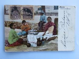 C.P.A. : MEXICO : Vendedoras De Fritangas, 2 Sellos En 1904 - Mexique