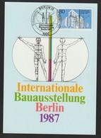 M 1066) Berlin 1987 Mi 785 FDC MK: Bauausstellung, Kreuzberg, Vermessung Mensch - Architektur