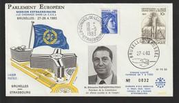 M 1065) Belgien 1982 Mi 2118 Freimaurer; St Brussel, Europäischer Rat Strasbourg - Freimaurerei