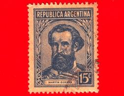 ARGENTINA - Usato - 1945 - Martín Güemes - 15 - Argentine