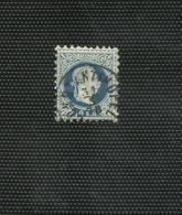 Francobollo 10 Soldi Azzurro Timbro Costantinopoli - Europa- Und Asienämter