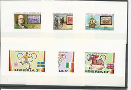 LIBERIA Scott 591-593, 706-708 (6 Mini Bloc) ** Cote ? $ 1972-76 - Liberia