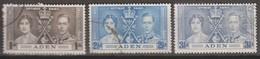 Aden 1937 MiN°13-15 3v (o) - Aden (1854-1963)