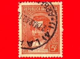 ARGENTINA - Usato - 1935 - Mariano Moreno  - 5 C - Argentine