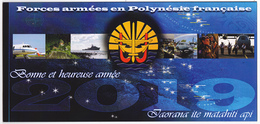 Polynésie Française / Tahiti - Armées - COMSUP-PF / Carte De Voeux 2019 - Polynésie Française