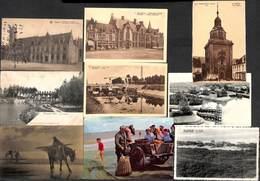 Nieuwpoort Nieuport  - Petit Leuke Lot Sympa 20 PK's Cartes (Animation, Marcovici, Pêcheurs...) - Nieuwpoort