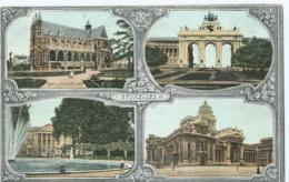 Brussel - Bruxelles - Multivue - Parc Et Palais De La Nation - Palais De Justice - Léopold Verger & Cie - Aqua Photo - Monumenten, Gebouwen