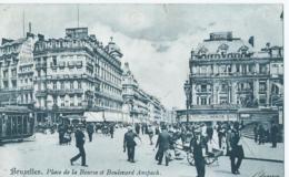 Brussel - Bruxelles - Place De La Bourse Et Boulevard Anspach - Places, Squares