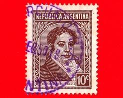 ARGENTINA - Usato - 1950 - Bernardino Rivadavia (1780~1845) - 10 - Argentine