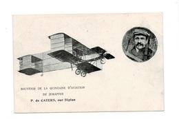 Souvenir De La Quinzaine D'aviation De Jemappes.(P.De Carters, Sur Biplan). - Mons