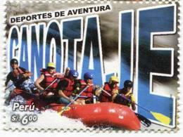 Lote P2006-10, Peru, 2006, Sello, Stamp, Deportes De Aventura, Canotaje, Boatong, Extreme Sport - Perú