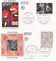1985 - FRANCIA 2 FDC OPERE D' ARTE VEDI++++ - FDC