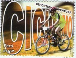 Lote P2006-12, Peru, 2006, Sello, Stamp, Deportes De Aventura, Ciclismo, Cycling Bicycle, Extreme Sport - Perú