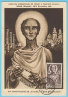 J.M; 25 - Carte Maximum Ou Carte Philatélique - N° 1 - Algérie - Religion - Saint Augustin - Expo. PhilatéliqueE - Musique
