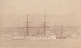 ***  PHOTO De 1873  Bateaux De Guerre  Cuirasser En Rade ??? Photo 5cm X 12cm - Anciennes (Av. 1900)