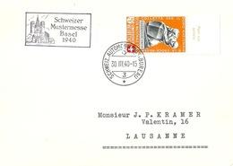 "Sonderstempel  ""Schweizer Mustermesse Basel""           1940 - Storia Postale"