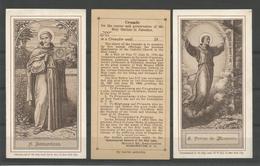 2 Holy Card.  S.Petrus Alcantara / H.Bernardinus - Religion & Esotérisme