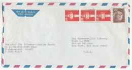 1970s Germany COVER International RIGHT INSTITUTE Kiel UNIVERSITY To UNITED NATIONS LIBRARY USA Un Stamps - [7] Federal Republic