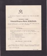 CINEY Abbé Edmond-Eugène SCHLOGEL 82 Ans 1925 Famille HAUZEUR BOSERET BLIJ - Décès