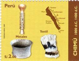 Lote P129, Peru, 2009, Culturas Indigenas Peruanas, Chimu, Indigenous Cultures, Sello, Stamp - Perú