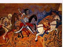 63 CHATEL GUYON Eglise Ste Anne Fresques De Nicolas Greschny L'Apocalypse Les 4 Cavaliers Mot Peste Famine Guerre - Châtel-Guyon