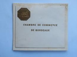 Menu :  Chambre De Commerce De BORDEAUX, Diner Offert à M.Jean-Jacques CHABRAT, Le 9 Octobre 1934 - Menus