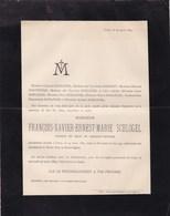 CINEY François-Xavier SCHLOGEL Candidat Notaire 35 Ans 1889 Famille BOSERET Faire-part Mortuaire - Décès