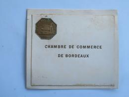 Menu :  Chambre De Commerce De BORDEAUX, Diner Offert à M. Le Président PAUL DESSE - Menus