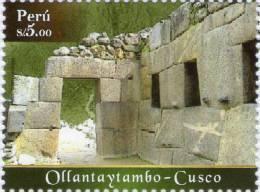 Lote P134, Peru, 2010, Culturas Indigenas Peruanas, Ollantaytambo, Indigenous Cultures, Sello, Stamp - Perú