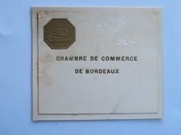 Menu :  Chambre De Commerce De BORDEAUX, Diner Offert à MM. LAWTON, Vice-Président Et Descas Le 14 Janvier 1939 - Menus
