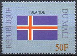 MALI 1999 - 1v - MNH** - Flag Of Island Islande Flags Drapeaux Fahnen Bandiere Banderas флаги - Timbres